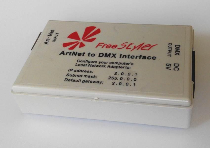 Art-Net ArtNet to DMX Interface   Controller , FreeStyler