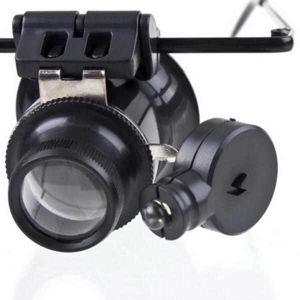 20 X Lupenbrille Vergr??erungs Led Lichtglas Uhrmacher Brille Juwelier Lupe Hc