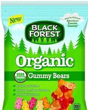 """""""BLACK FOREST"""" ORGANIC Assorted Fruit Chewy Gummy Bears Candy- 4 oz Bag"""