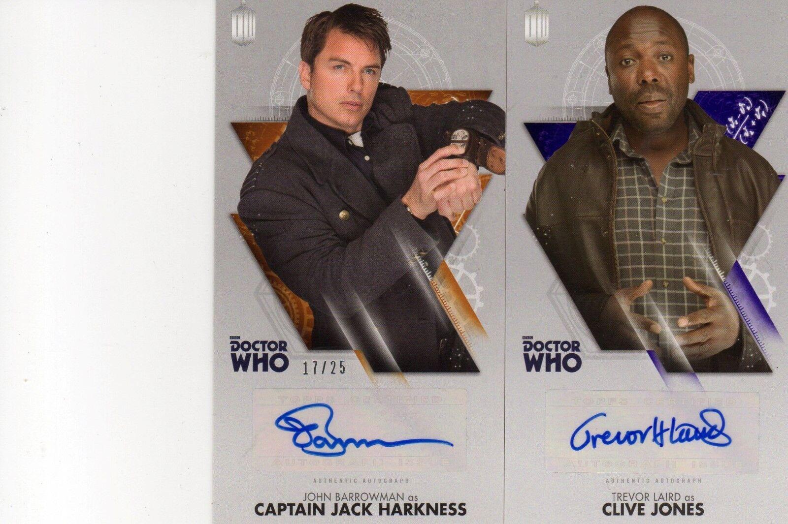 Doctor Who Décimo Doctor aventuras 2 autógrafos Topps + 88 Juego de Tarjetas 1347 1500