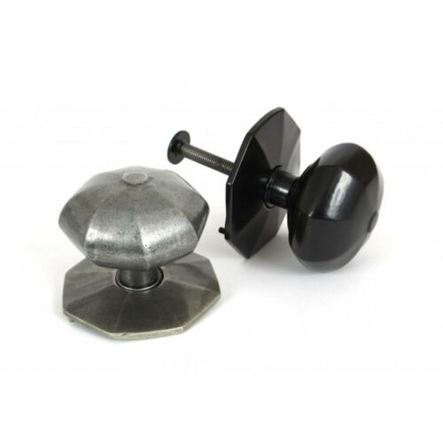 Pewter From the Anvil Octagonal Centre Door Knob