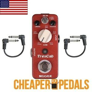 new mooer trescab guitar cabinet simulator sim pedal tres cab us seller ebay. Black Bedroom Furniture Sets. Home Design Ideas