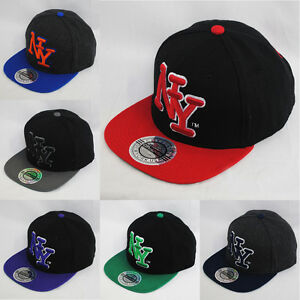 City Hunter NY New York Large Logo Wool Snapback Hat Cap  abf789e57eb