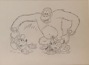 Disney:Mickey + Minnie Mouse Original Production Drawing from The Pet Store 1933