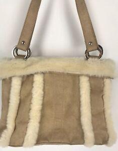 9d25776d7 Cartera Imitación Gamuza Beige Invierno y piel de imitación de lana ...