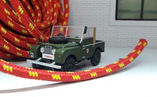 Qualità Rosso Intrecciato ACCENSIONE HT igniton Lead Land Rover Serie 1 80 86 88 107