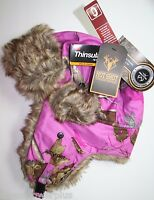 L Real Tree Camo Bomber Insulated Hat Shot Hot Trapper Hunter Stocking Cap Gear