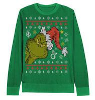 Peek A Boo Grinch Sweater Dr Seuss Adult Small