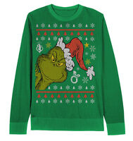 Peek A Boo Grinch Sweater Dr Seuss Adult Extra Large