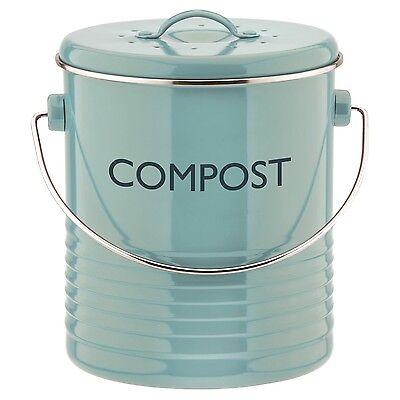 Typhoon Vintage Kitchen Compost Caddy - Red, Black, Cream, Blue