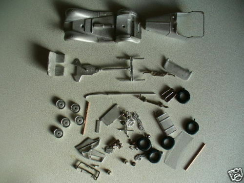 MG TD  Midget  1 43rd scale white metal kit  by K & R Replicas