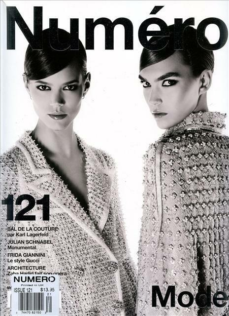 Numero Magazine #121 fashion women ARIZONA MUSE FREJA BEHA ERICHSEN