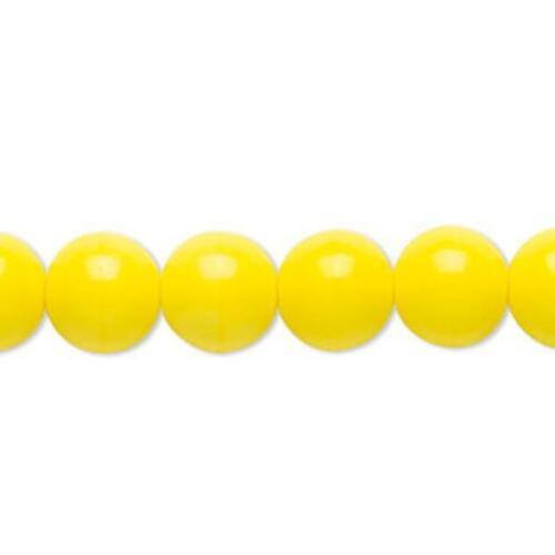 1226 bolas de cristal checo opaco amarillo 6mm 16 pulgadas tienda  Reino Unido *