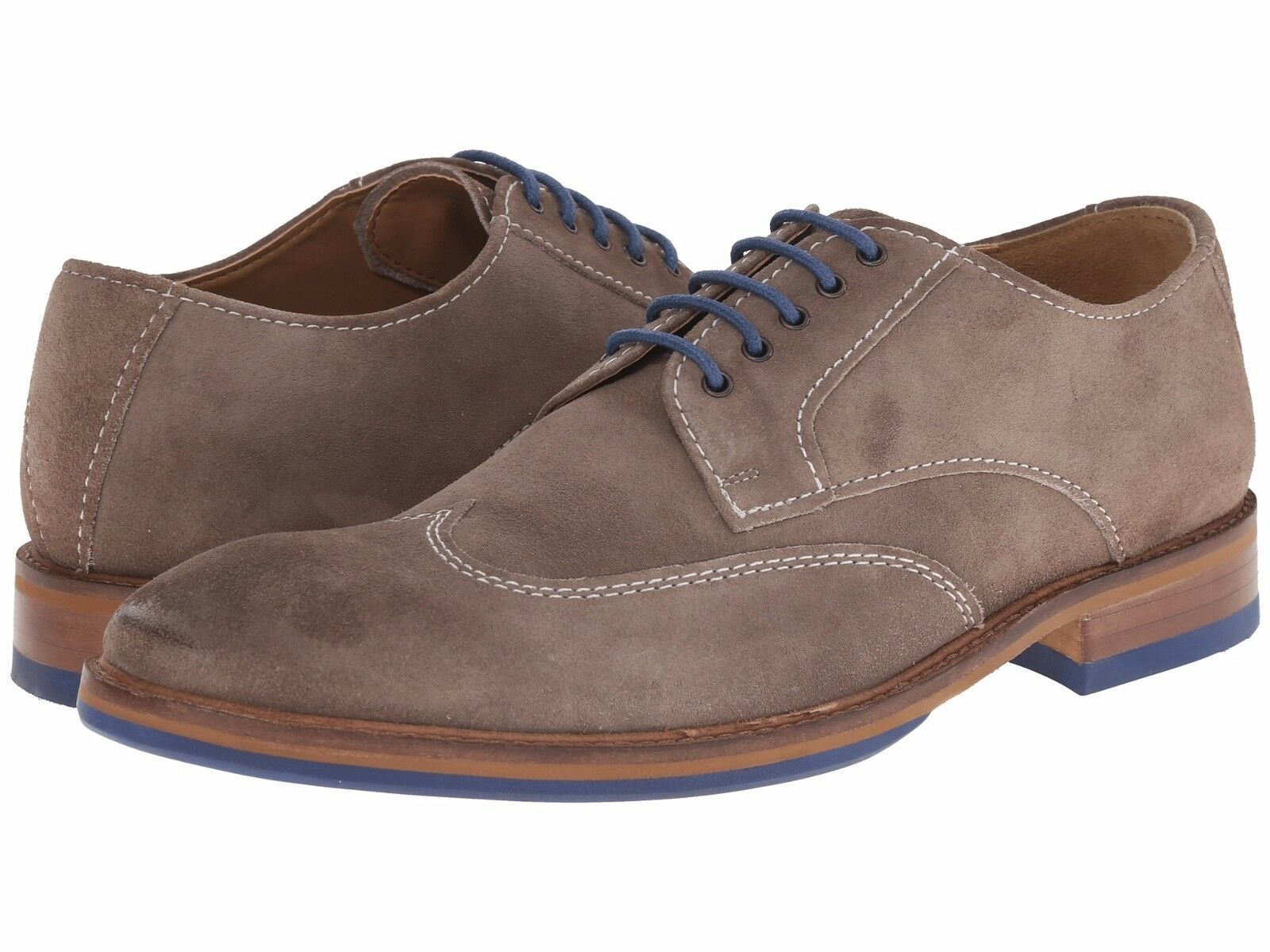 Men's shoes Kenneth Cole Move-Ment Suede Lace Up Oxford SMF5SU012 Grey New