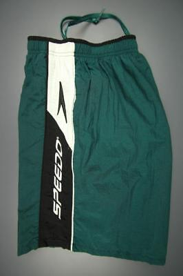 Vtg Men's Speedo 100 Nylon/mesh Poly Lined Swim Trunks Volley Shorts Green L Clothing, Shoes & Accessories