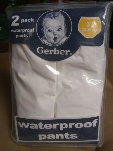 4 pairs Fits 28-32 lbs. 2T Gerber Plastic Pants