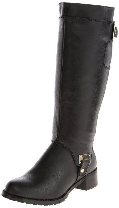 Bella Vita Women's Anya II Plus Calf Riding Boot,Black,9 W US