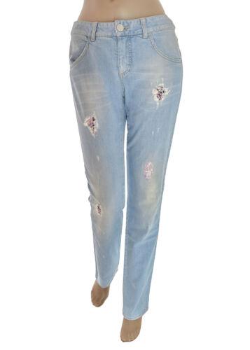 Cristinaeffe Donna Delave Effetto Applicazioni Jeans Paillettes xPwxHaUq