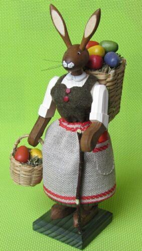 Großer 19cm Osterhase Osterhasenfrau mit Eierkorb Gotthard Steglich Hase Ostern