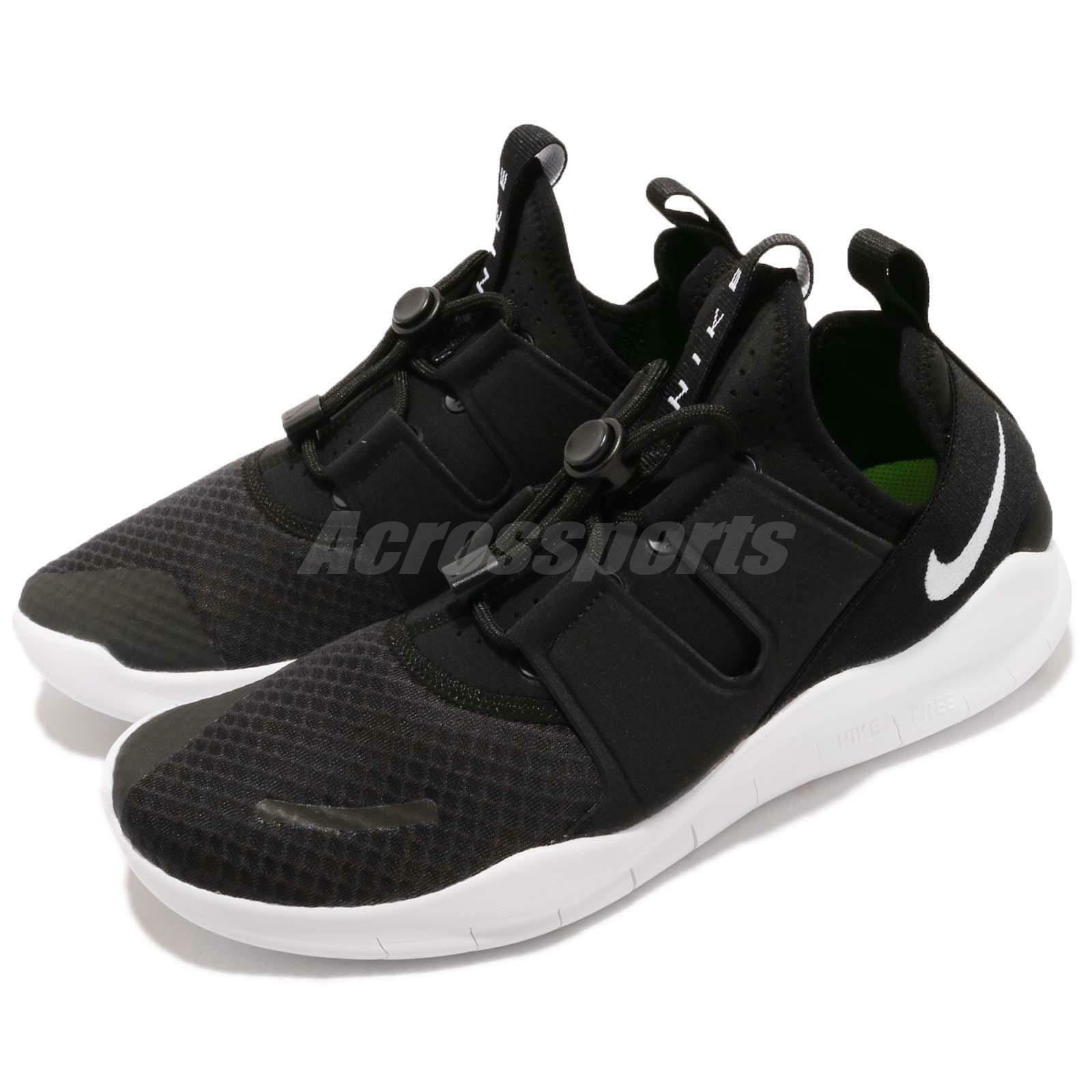Nike Free RN CMTR 2018 Commuter Black White Mens Running shoes AA1620-001