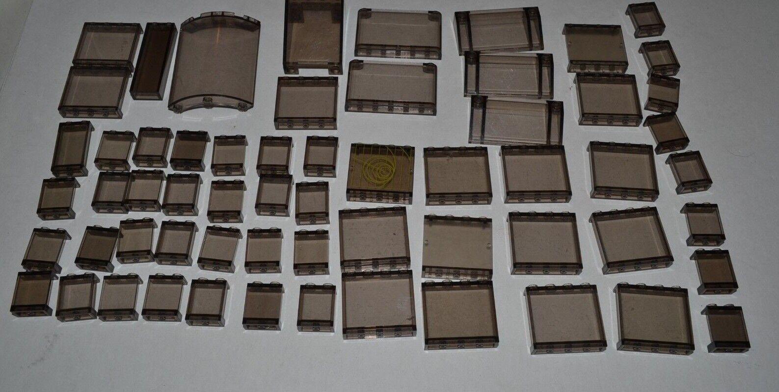 Big LEGO LOT  Trans fenêtre Noire Fumé écran petit verre 1x2x2 1x4 Arch adkq  design unique