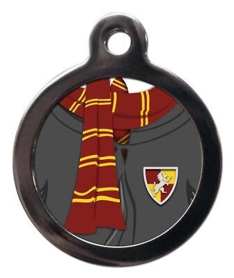 Pet Tags Harry Potter Ispirato Cane Gatto Id Tag Etichette Personalizzate Sciarpa Rossa E Oro-mostra Il Titolo Originale
