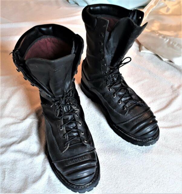 Combat Boots Men's Matterhorn Gore-Tex Military Steel Safety Toe Black Size 9.5