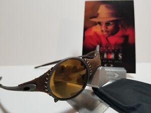 RARE   Oakley Mars Leather Sunglasses Michael Jordan m 012447 Gold x ... 7b316939c5