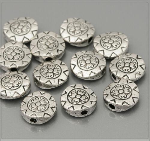 20x Tibet Argent ornement perles Spacer Zwischenteil Pour Bijoux À faire soi-même 10 mm ms399