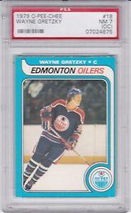 PSA 7(OC) NM 1979 O-Pee-Chee OPC #18 Wayne Gretzky Rookie RC Edmonton Oilers HOF