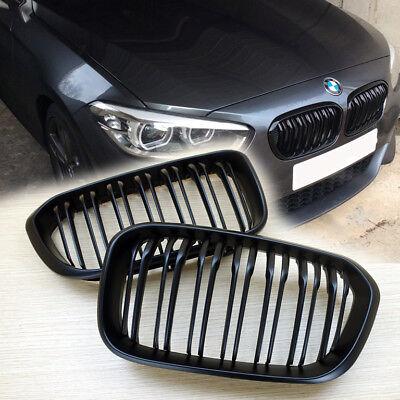 SCHWARZ MATT BLACK MATTE M LOOK GRILL KÜHLERGRILL für BMW F20 F21 LCI 1er 2015