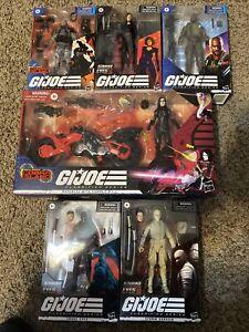 Gi Joe Classified Series Cobra Island Lot Snake Eyes Baroness Firefly