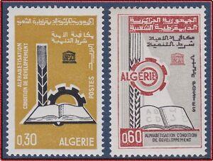 ALGERIE-N-422-423-ALPHABETISATION-1966-ALGERIA-Set-MNH