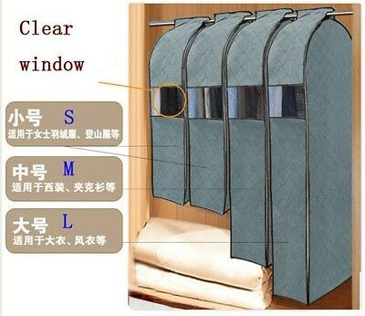 Hanging Clothes Suit Dress Garment  Organizer Storage Travel Dustproof Cover Bag