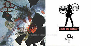 PRINCE-DISPLAY-Poster-USA-Promo-Only-CHAOS-And-DISORDER-039-In-Store-039-Display-Card