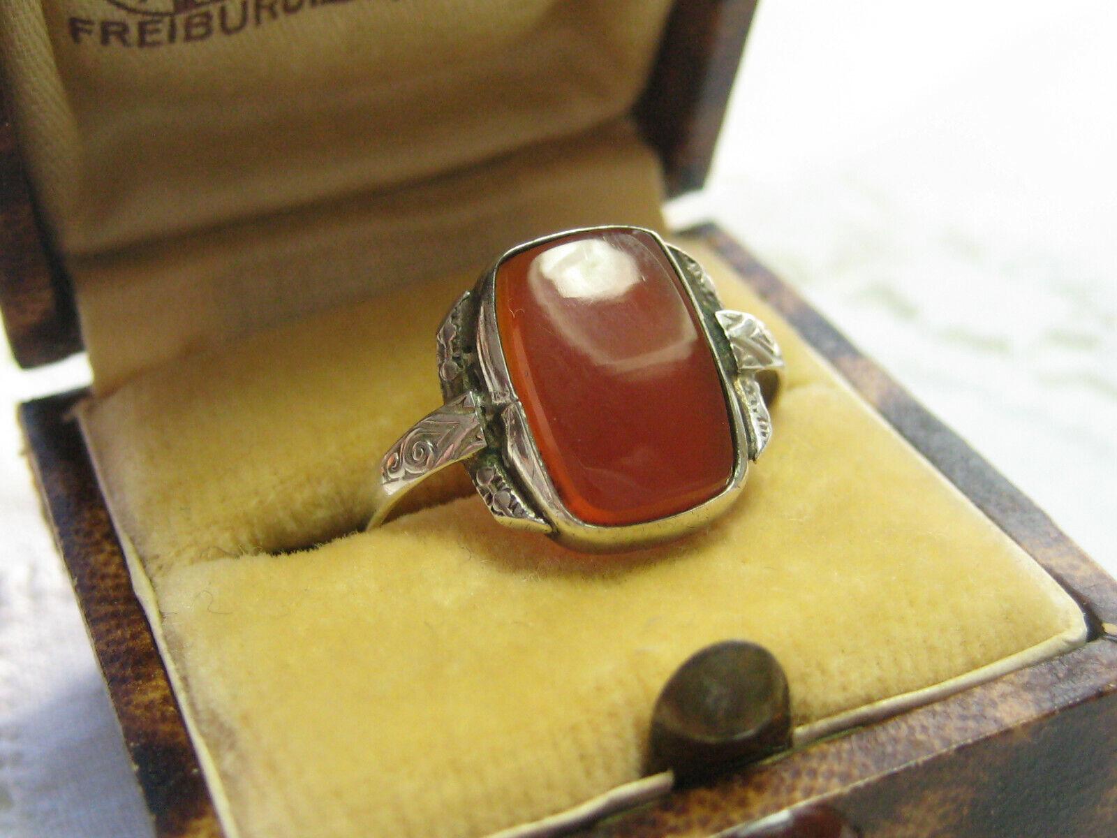 Ausverkauft Antik edler Ring 830 Silber Karneol Carneol 16 5 mm ...