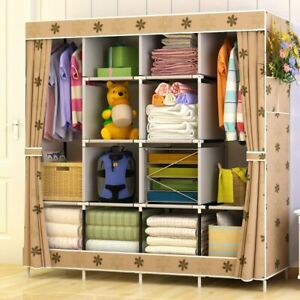 Large-Non-woven-Wardrobe-Multi-function-Dust-proof-Clothes-Storage-Cabinet