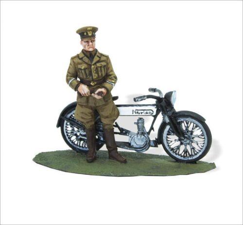 SMI045 Soldados de Plomo en Moto 1:30 ROYAL AIR FORCE WWI NORTON 1916