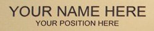 New Custom name BLUE Interchangeable Desk Name Plate Engraved in white 2 x 8