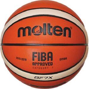 Molten Intérieur Basketball GF7X Dbb Fiba Premium Composite Cuir BGF7X Tailles 7