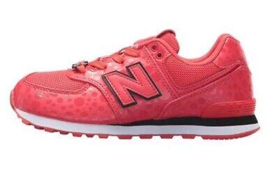 New Balance x Disney Minnie Mouse 574 Girls Shoes Red White SZ IV574M1 NIB!!