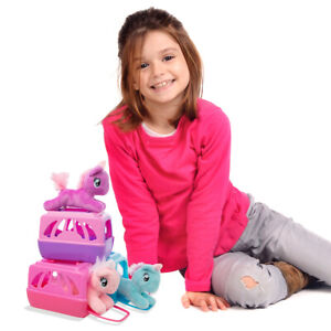 Unicorn Plush Stuffed Animal And Pet Carrier Set Cute Fun Kids Toy For Girls