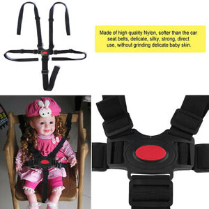 1x 5-point Baby Kid harness strollers highchair Pram Buggy safely Belt Strap uk