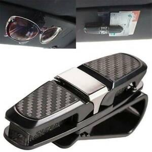 Black-Auto-Sunglasses-Clip-Sun-Visor-Glasses-Card-Ticket-Holder-Car-Accessories