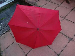 Vintage-Retro-Ladies-S-Fox-Umbrella-Parasol-Red-Wooden-Whamgee-handle-for-repair