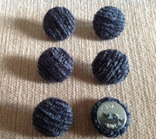 Textured Chenille 30L//19mm Blue Upholstery Fabric Covered Buttons