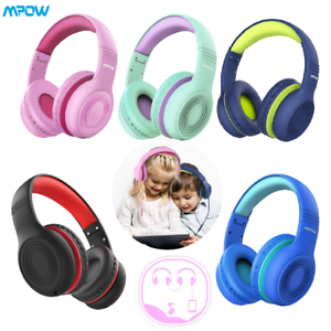 For Iphone All Android Smartphones Pc Wired Headphones With Music Audio Share Port For Children Headphones for kids Over Ear Foldable On Ear Headphones Volume Limited Protecting Hearing