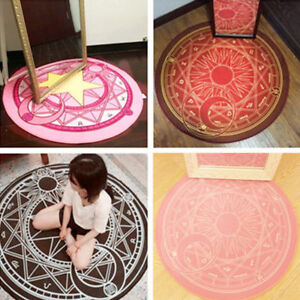 Anime-Card-Captor-Sakura-Magic-Anti-slip-Floor-Mat-Round-Rug-Bed-Room-Mat-Carpet