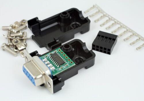 MAX232 MAX3232 RS232 A TTL Convertitore 3.3v-5v con Cappuccio Kit Per Raspberry Pi