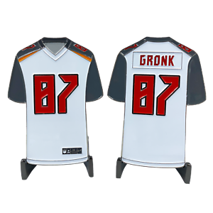 Details about CL4-02 Rob Gronkowski GRONK inspired Tampa Bay Bucs Away Jersey Buccaneers Chall